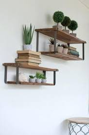 recycled wood and metal floating shelves set of 2 home decor metal floating shelves floating shelf