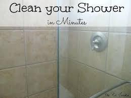 hard water stain remover shower door how to clean glass shower doors easy way hard water
