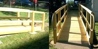 handicap ramp plans for homes wooden wheel chair ramps wheelchair ada wood construction