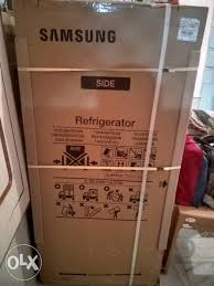 refrigerator box. show only image. -packed samsung refrigerator box