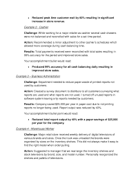 Job Accomplishments List Job Accomplishments Under Fontanacountryinn Com