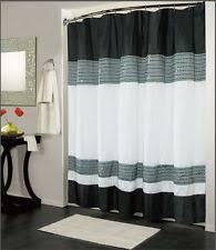 white shower curtain bathroom. IBIZA BLACK WHITE LUXURY FABRIC SHOWER CURTAIN, BATHROOM ACCESSORIES, 70 White Shower Curtain Bathroom