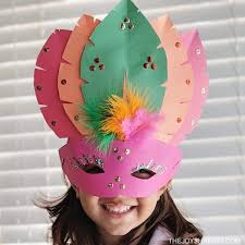 diy paper mask craft for kids