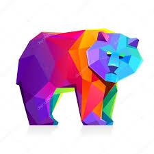 Rainbow Bear Character Stock Vector Kaer_dstock 77110241