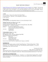 Examples Of Resumes Make Resume Format Mnc Law Student Sample