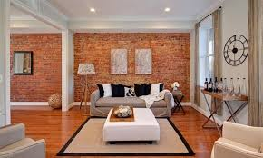 furniture the brick. Light Living Room With Exposed Brick Walls Furniture The N