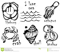 Disegni Grafici Degli Animali Marini Imitazione Dei Disegni Grafici