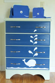 Whale Painted Dresser Furniture Spray Paint Projects