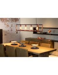Lange Hanglamp Koper Zwart Wit Grijs Houtkleur 120cm