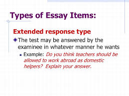 test construction edited two types of essay