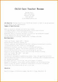 Child Care Resume Objectives Child Care Resume Examples Child Care
