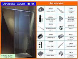 frameless glass bypass sliding shower door hardware