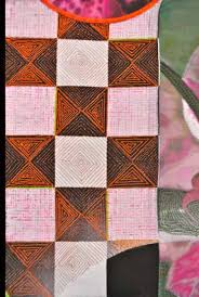 Porcelain Grace - Meryl Ruth - Fine Art & Close-up view to show detailed stitching patterns. Adamdwight.com