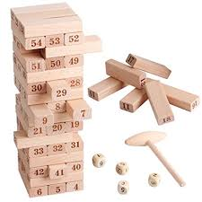 Wooden Math Games Amazon Wooden Stacking Board Math Games Tumble Tower Building 44