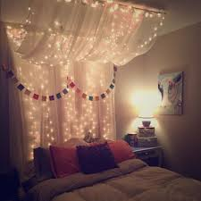 Full/Queen Bed Canopy With Lights Command Hooks, White, Queen Bed ...