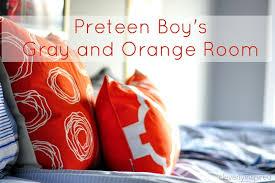 gray and orange bedroom. gray and orange boys room (23) bedroom