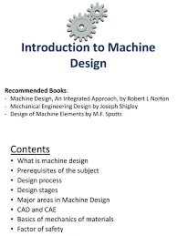 Factor Of Safety In Machine Design Introduction To Machine Design Docshare Tips