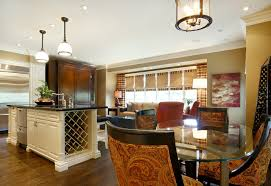 glass dining table and wine cellar design in