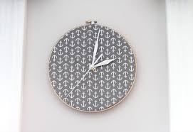 details grey decorative clock
