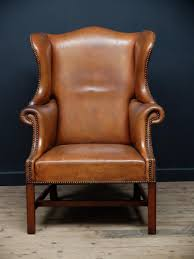 Wingback Chair English Tan Leather Wingback Chair 1920 For Sale At Pamono