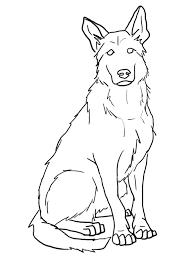 Free German Shepherd Lines By S1088 Tattoo Honden Kleurplaten