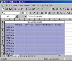 create a schedule in excel creating a class schedule using excel