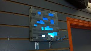 Diamond Ore Light My Handmade Diamond Ore Wall Lamp Bens Room Minecraft