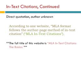 In Text Citation Mla Website Example In Text Citation Mla Style