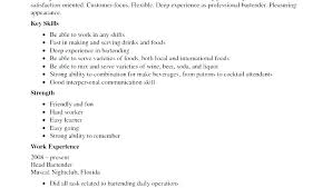 Resume For A Bartender Custom Bartender Qualifications Resume Bartender Resume Objective Examples