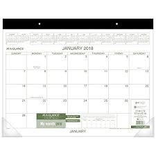 At A Glance Monthly Desk Pad Calendar January 2018 December 2018