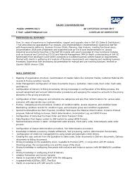 Exelent Sap Sd Resume Sample Image Collection Documentation