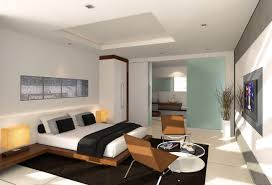 Room Design Ideas For Men With Contemporary Wooden Master Bed And ...