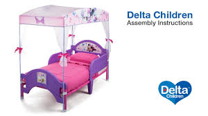 Delta Children Toddler Canopy Bed Assembly Video - YouTube