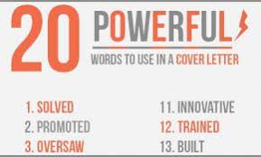 cover letter power words 45 lovely power phrases for cover letters malcontentmanatee