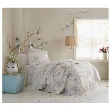 Teal & White Shadow Rose Quilt Simply Shabby Chic™ Tar