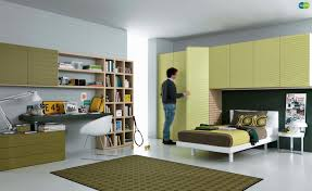 furniture for teenager. MisuraEmme Teenager Room With Lime Green Colored Furniture And Gray Wall Paint Color For M