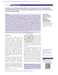 Pdf Comparison Of Antimicrobial Efficacy Of Between 0 2