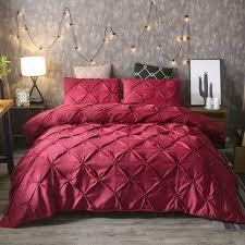 bedding pintuck duvet covers luxury