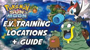 Pokemon Sun and Moon EV Training Guide! Best Places to EV Train in Pokemon  Sun and Moon - YouTube