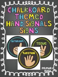 preschool bathroom signs. Chalkboard Themed Colorful Hand Signal Signs Preschool Bathroom
