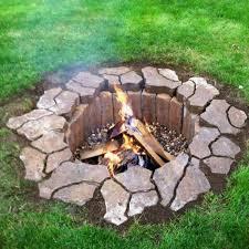 in ground diy fire pit