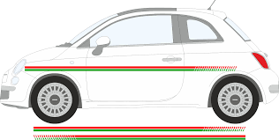 Fiat 500 Colour Chart Details About Fiat 500 Green And Red Side Racing Stripes Stickers Graphics Decals A737