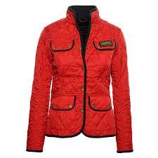 Summer Vintage International Quilted Jacket In Red &  Adamdwight.com