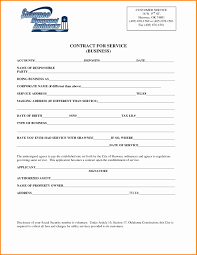 Business Service Agreement Template Fence Contract Template Best Of 24 Basic Contract Of Employment 9