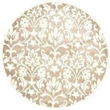 round indoor outdoor rug wheat beige 7 ft x area home depot patio rugs