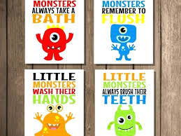 printable bathroom signs for kids.  Bathroom Kids Bathroom Signs Artwork Prints Flush Sign  Decor Printable Art  Intended Printable Bathroom Signs For Kids S