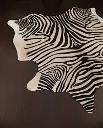 decor look alikes horchow zebra hide rug