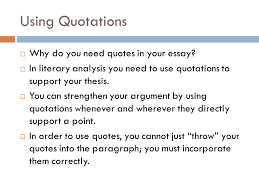 incorporating quotes in literary writing ss q s method ppt 3 using quotations