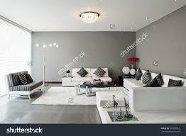 Wall Decoration Living Room Interior Design Living Room Big Empty Stock Photo 155556962