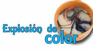Experimentos Caseros Explosi N De Color Con Leche Colorante Y Jab N